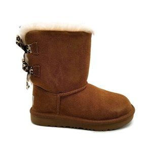 UGG Bailey Bow II Exotic Chestnut Suede Short Boot